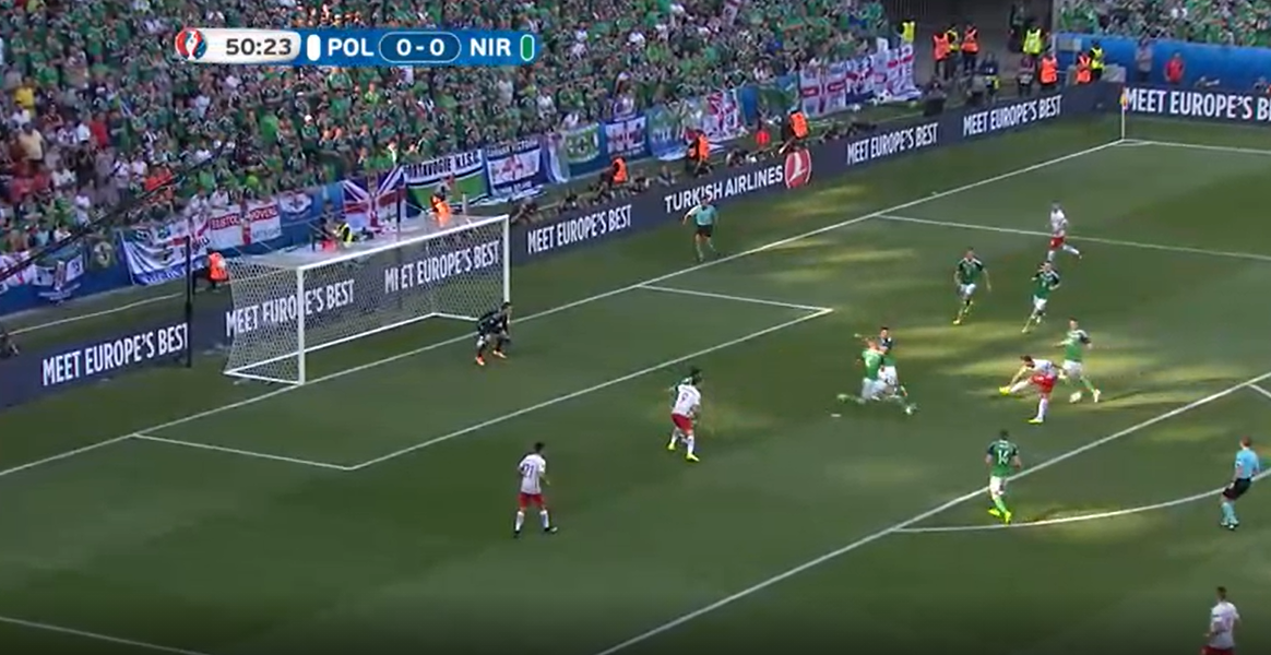Polska - Irlandia Północna 1-0 Euro 2016