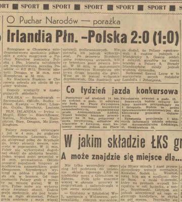 Irlandia Północna - Polska 1962