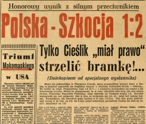Polska - Szkocja 1958