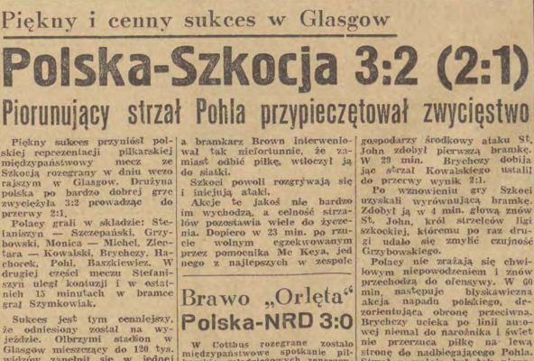 Szkocja - Polska 1960