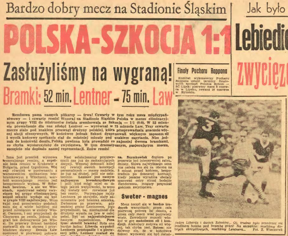 Polska - Szkocja 1965
