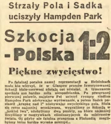 Szkocja - Polska 1965
