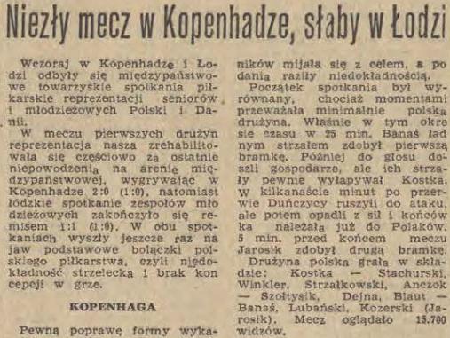 Dania - Polska 1970