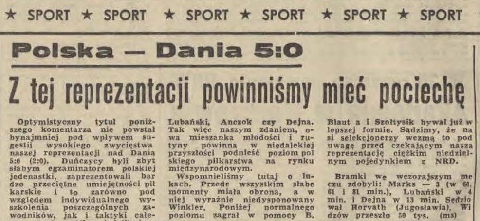 Polska - Dania 1970
