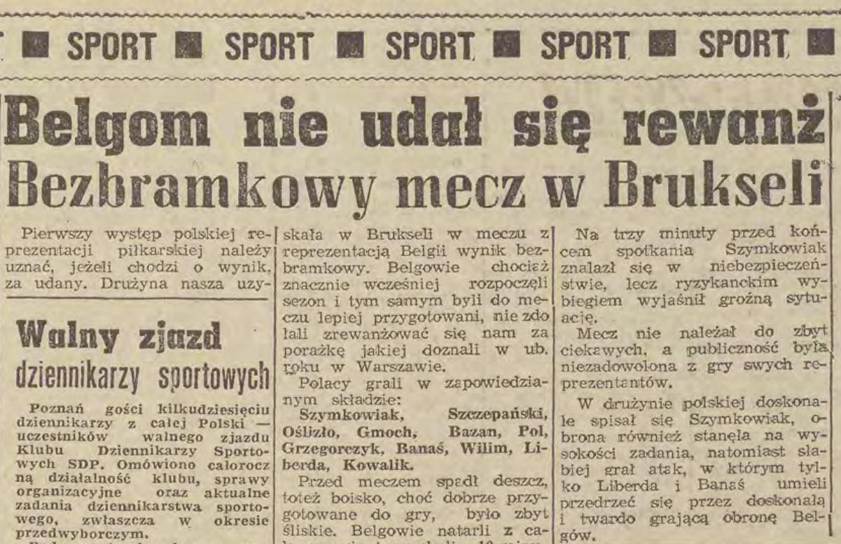 Belgia - Polska 1965