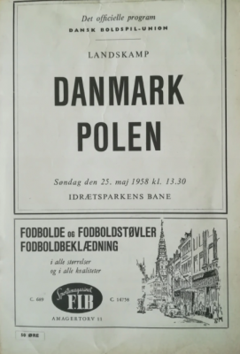 Dania - Polska 1958