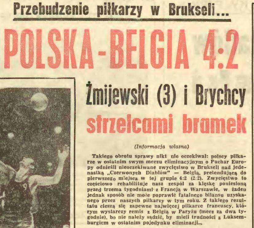 Belgia - Polska 1967
