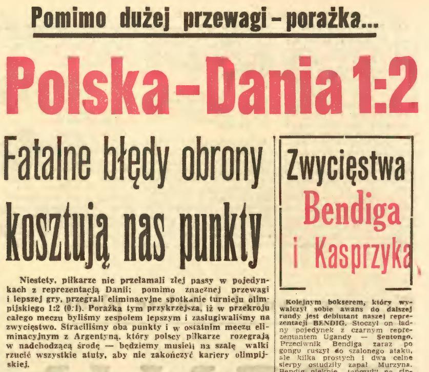 Dania - Polska 1960