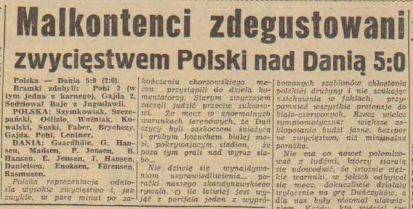 Polska - Dania 1961