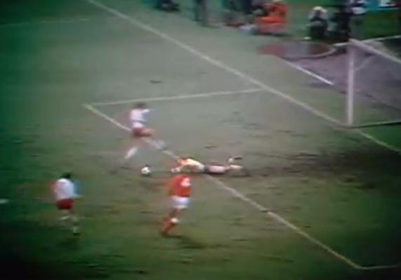 Polska - Dania 1977 4-1 Lubański Fair - Play