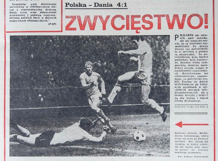 Polska - Dania 1977 4-1