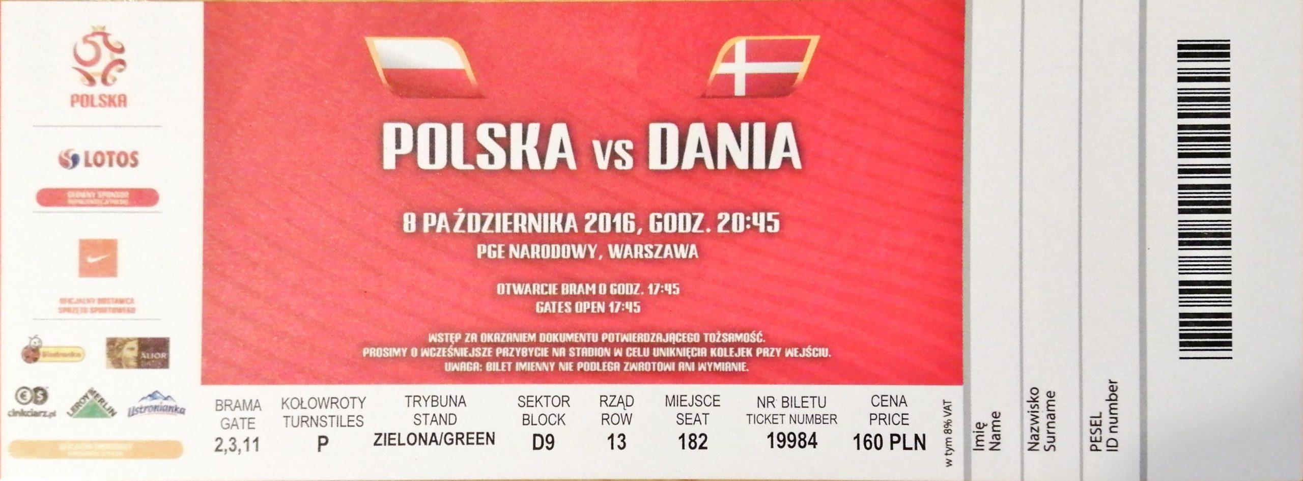 Polska - Dania 2016